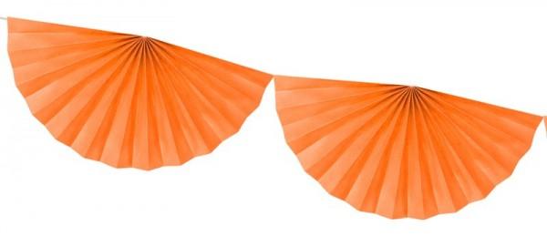 Guirlande Rosette Daphné orange 3m x 40cm