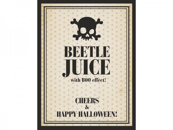 Bottle label Beetle juice 9.5 x 12.5cm