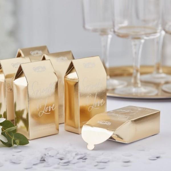Ślub w złotym pudełku konfetti 7g
