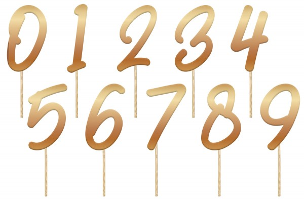 Números decorativos para tartas 15cm Azul elegante