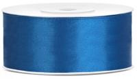 25m Satin Geschenkband blau 25mm breit