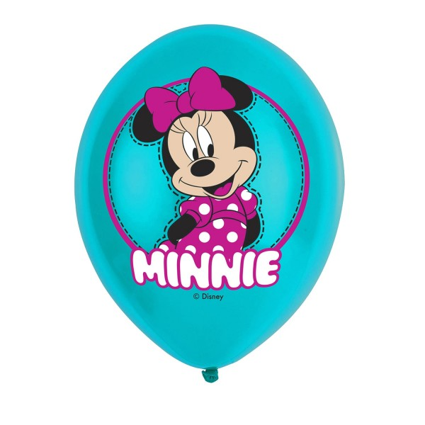 6 Happy Minnie Mouse Ballons 27,5cm
