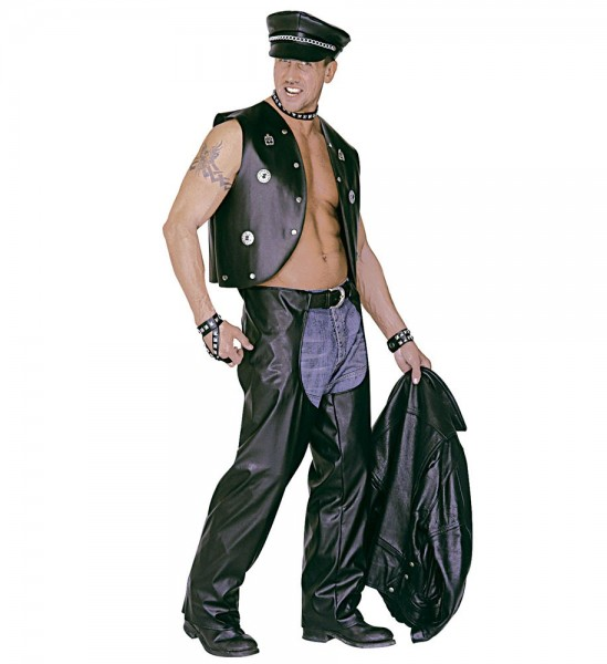 Biker faux leather overpants