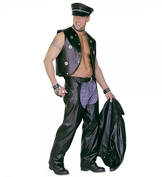 Skórzane spodnie motocyklowe ze skóry syntetycznej
