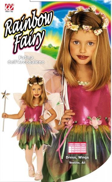 Kostium tęczowej wróżki dla dziewczynki