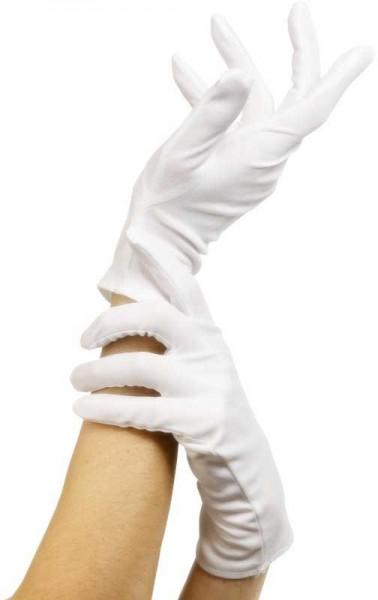 Weiße Herzoginnen Handschuhe