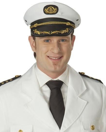 Weiße Kapitäns Mütze