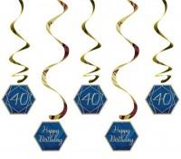 5 Luxurious 40th Birthday Spiralhänger 99cm