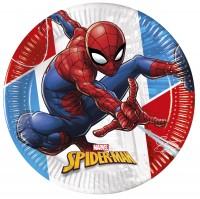 8 Spiderman Öko Power Pappteller 23cm