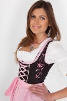 Lola Midi Dirndl In rosa-schwarz
