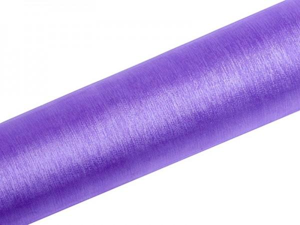 Tela de organza Julie violeta 9m x 16cm