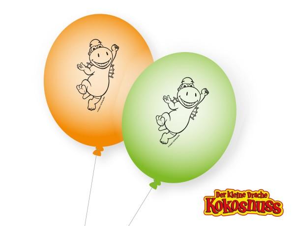 8 Kleiner Drache Kokosnuss Ballons