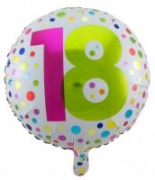 Splendid 18th Birthday Folienballon 45cm