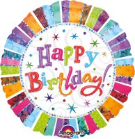 Colourful Birthday Folienballon 45cm