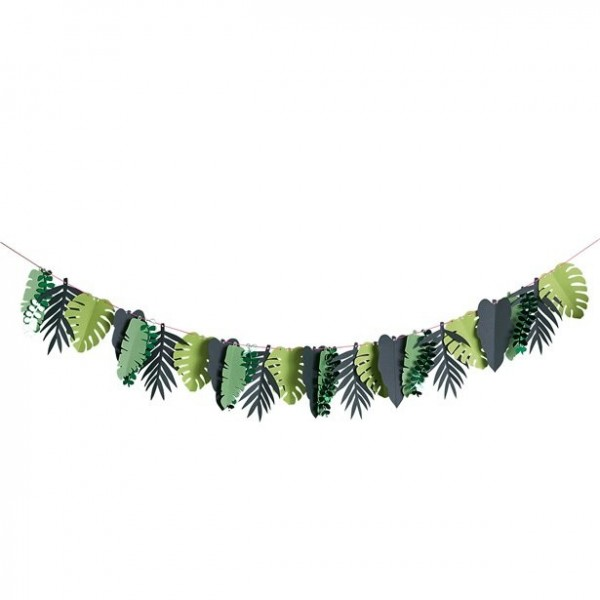 Tropical leaves paper garland 2m