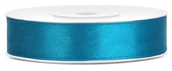 25m satin gift ribbon turquoise 12mm wide