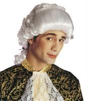 Perruque Bastien baroque en blanc