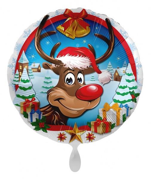 Ballon de Noël en aluminium Rudolf 71cm