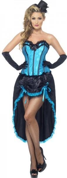 Déguisement femme burlesque bleu chic