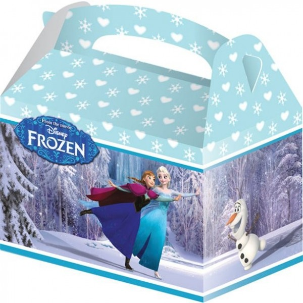 4 Frozen Eiszauber Geschenkboxen 15 x 10 x 17cm