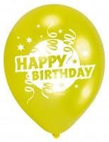6 Birthday Cake Luftballons 23cm