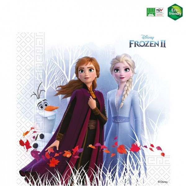 20 Frozen II Servietten kompostierbar
