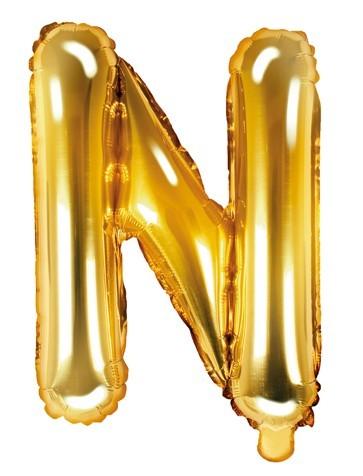 Folienballon N gold 35cm