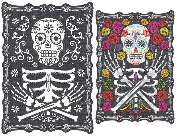 Dia de los Muertos Wandbild 45 x 30cm