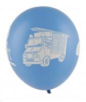 5er Set Feuerwehr Alarm Ballons