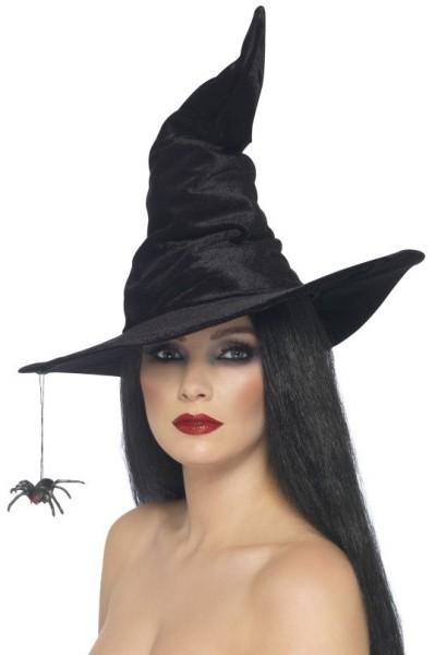 Schauriger Hexen Zauberhut Schwarz