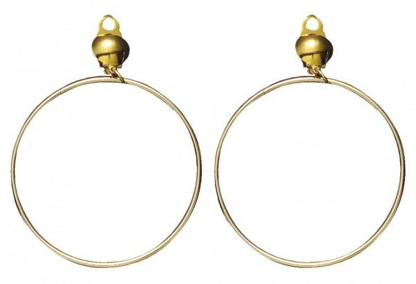 Orientalische Creolen Ohrringe Gold