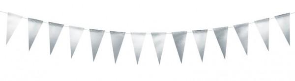 DIY Silber metallic Wimpelkette 2,15m