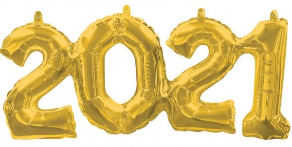 Goldener 2021 Folienballon 53 x 22cm