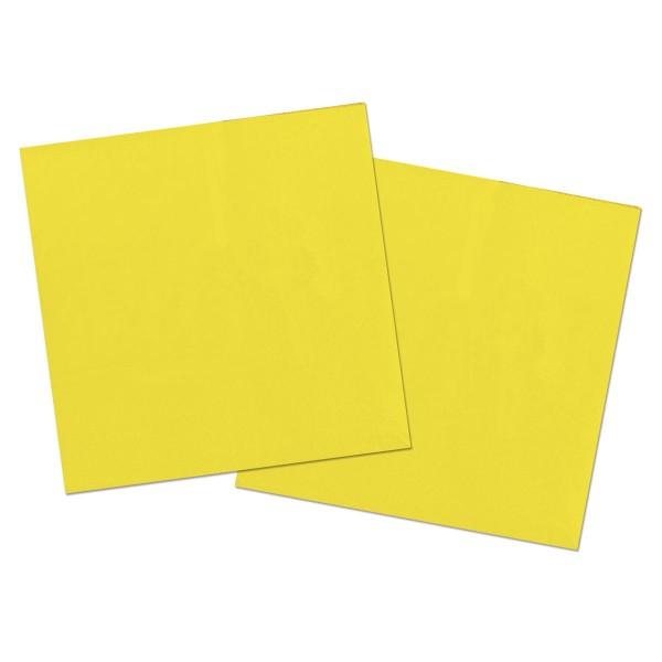 20 serviettes Cleo jaune 33 x33cm