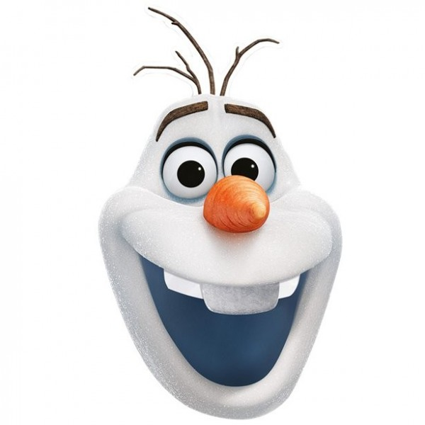 Masque en papier Frozen 2 Olaf