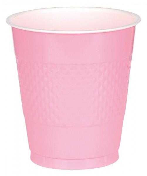 20 vasos de plástico Mila, rosa claro 355ml