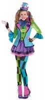 Verrücktes Hutmacherin Kostüm Susi für Mädchen