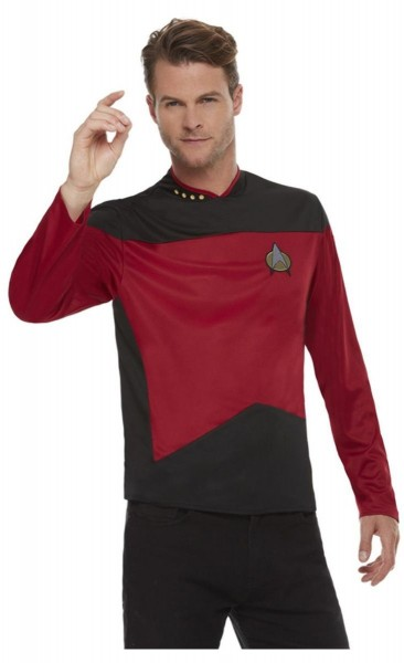 Star Trek next generation uniform shirt voor heren rood