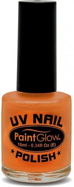 UV Paint Glow Nail Polish In Orange