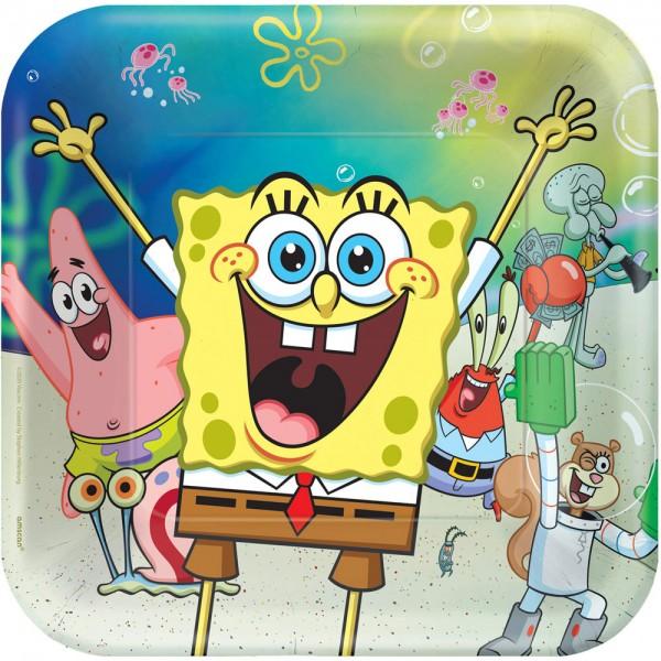 8 talerzy imprezowych Spongebob 23 cm