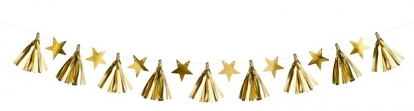 Golden starry sky garland 1.3m