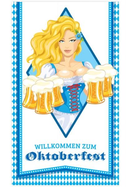 Oktoberfest Türdeko Bier Liesl 70cm x 1,2m