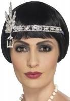 20er Jahre Juwelen Stirnband Silber