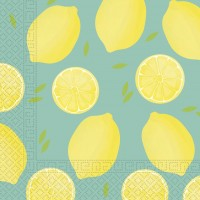 20 Fresh Lemon Serviette 33cm
