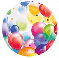 8 Balloon Carnival Pappteller 23cm