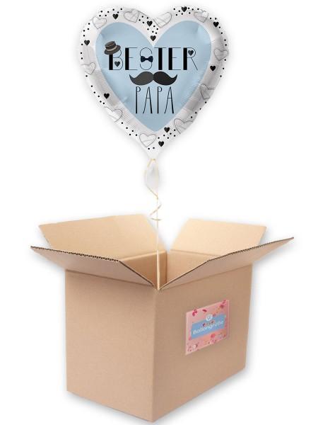 Bester Papa Herz Folienballon 43cm