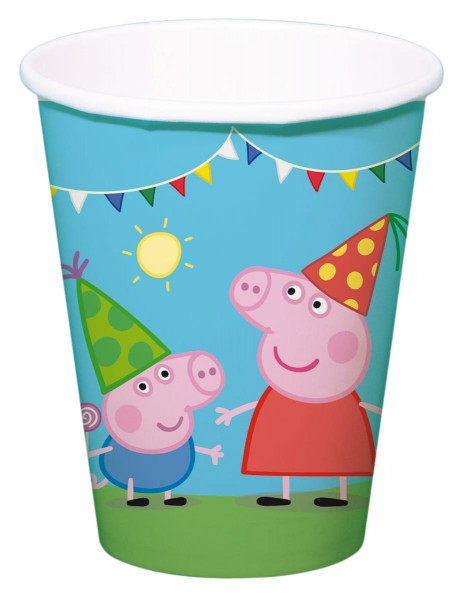 8 Becher Peppa Wutz 250ml 1