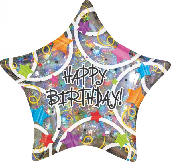 Happy Birthday Stern Schimmerballon