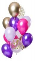 12 Latexballons lila bunt
