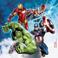 20 Avengers Servietten kompostierbar 33cm